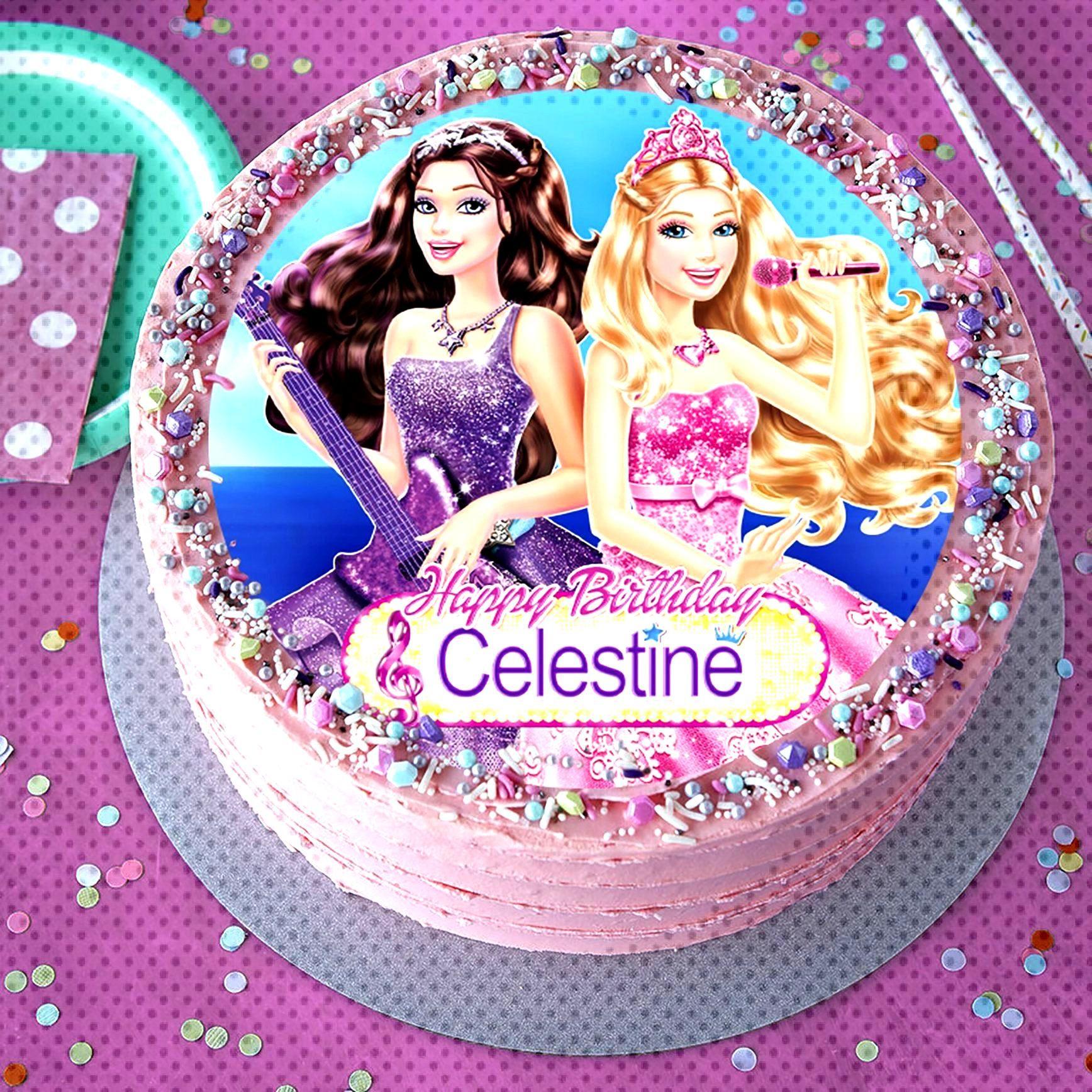 BARBIE PRINCESS and the POPSTAR - Image edible cake topper, Birthday cake topper, Cake Topper, Suga