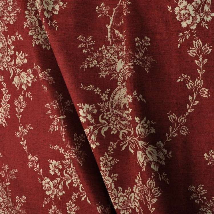 Waverly Country House Toile Red Fabric With Images Red Fabric Fabric Fabric Decor