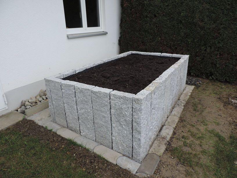 Hochbeet aus Granit Hochbeet, Garten hochbeet, Erhöhte