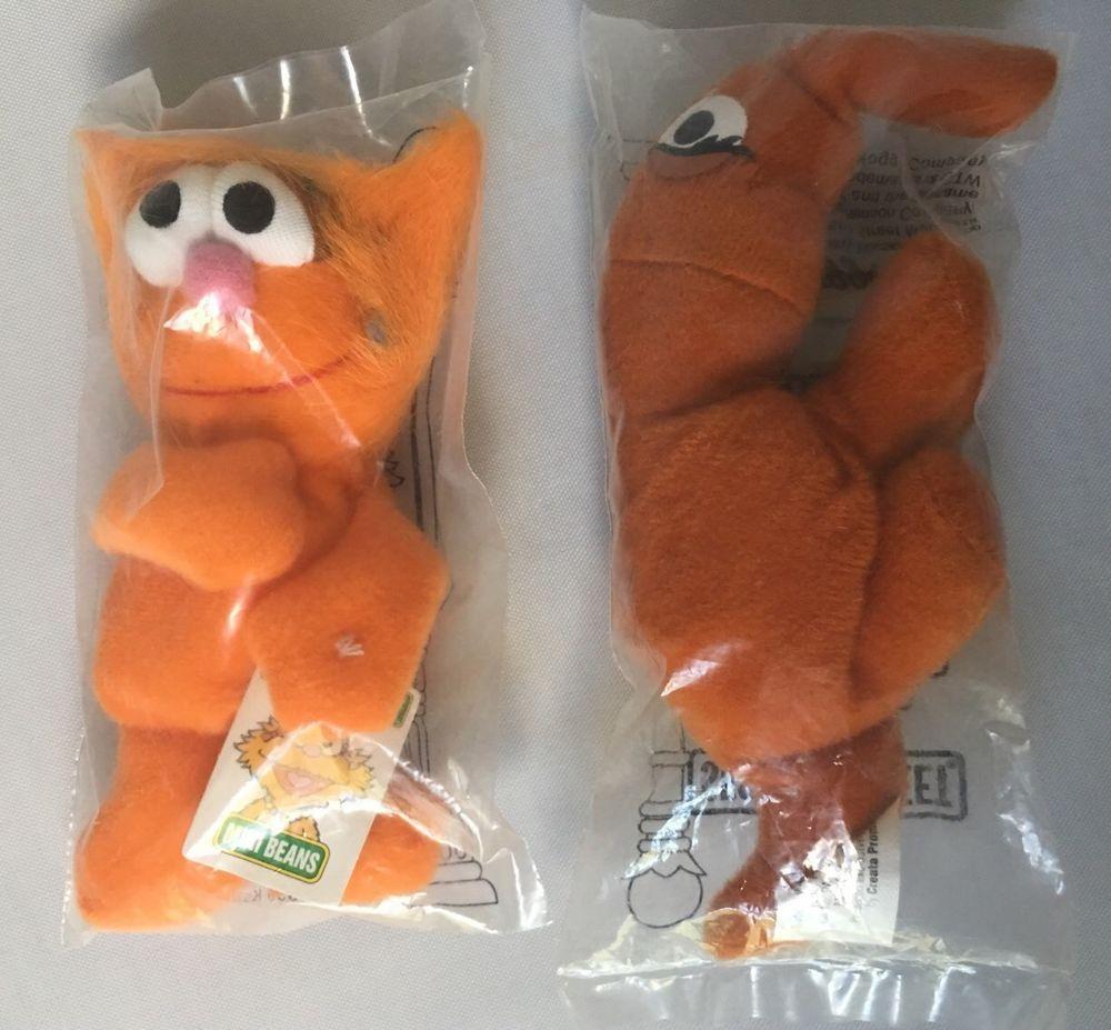 2 Sesame Street Mini Beans Muppets Zoe Snuffleupagus New