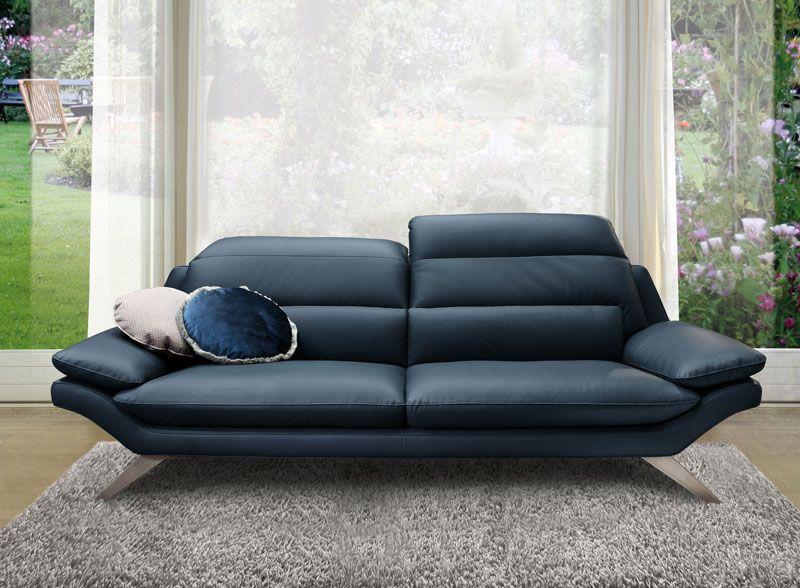 Patna Un Salon Ultra Style Avec Ses Pieds En Metal Et Le Revetement En Cuir Ou Tissu Venez Le Decouvrir En Magasin Meuble Modern Sofa Sofa Set Sofa Design