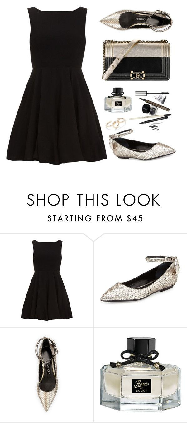 """""""Lady in black"""" by felytery ❤ liked on Polyvore featuring moda, Alice & You, Tom Ford, Chanel, Gucci e Sole Society"""