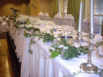 Trailing Ivy Wedding Inspiration Wedding Table Decorations