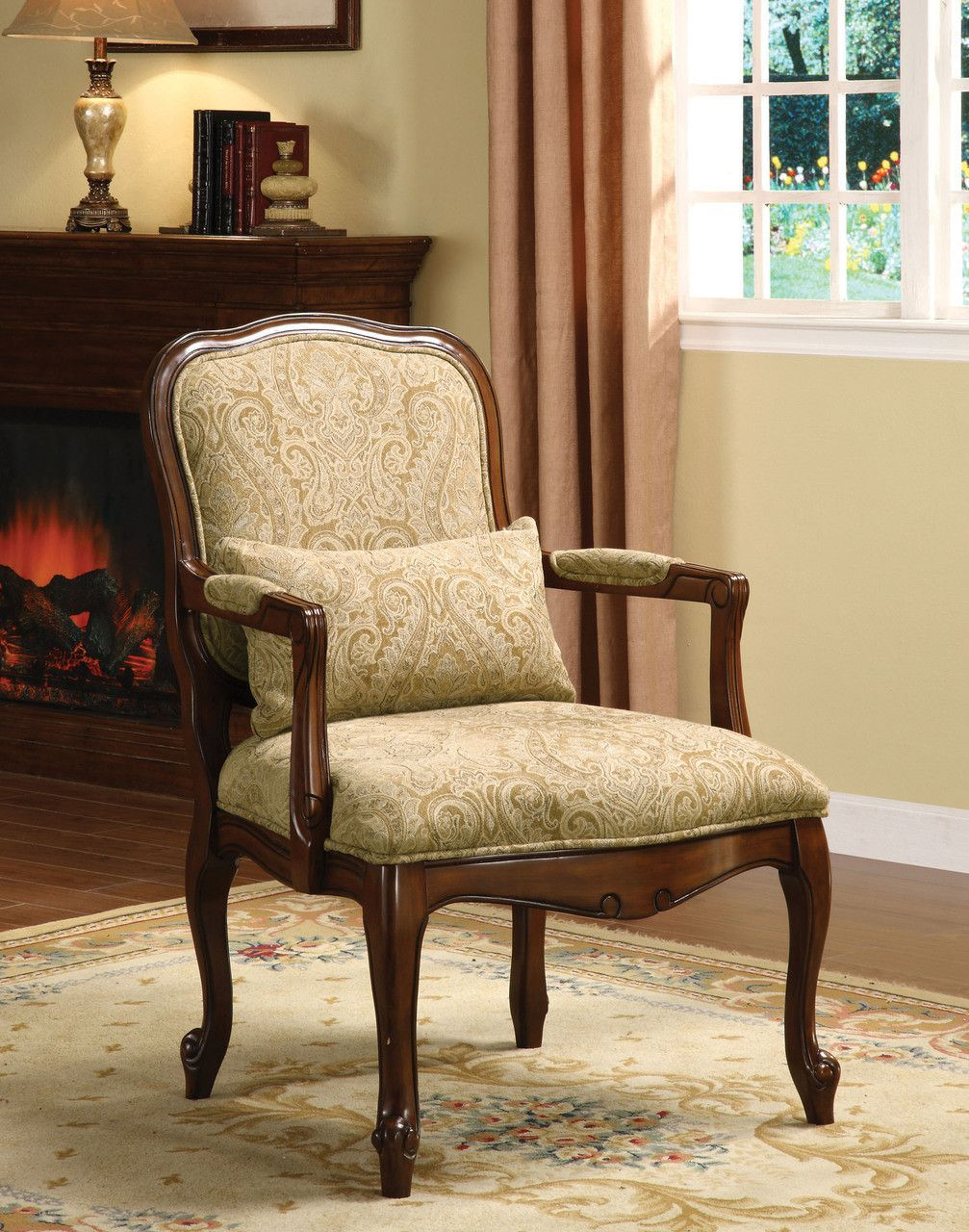 Waterville Cm Ac6980 Accent Chair With Queen Anne Style Legs This