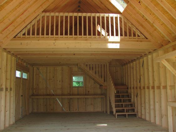 Amish Built Attic Car Garage With Loft Space: Lofts, Cabin And