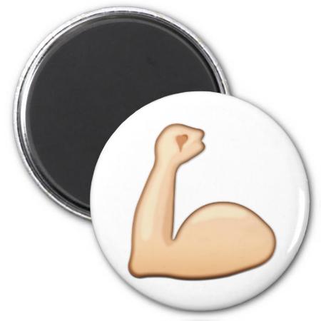 Flexed Biceps Emoji Emoji Magnet Emoji Flex