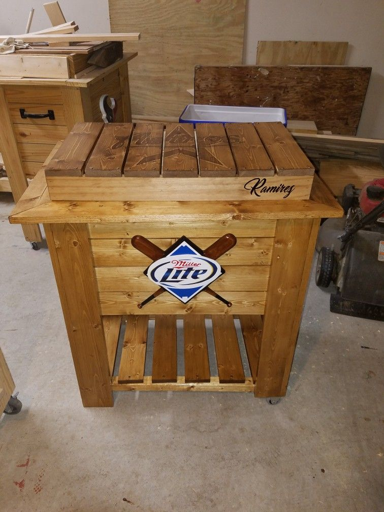 Miller Lite Wood Crate Wooden Thing
