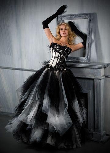 Exceptionnel Robe de mariee gothique noir et blanc | Art | Pinterest | Robes de  RS26