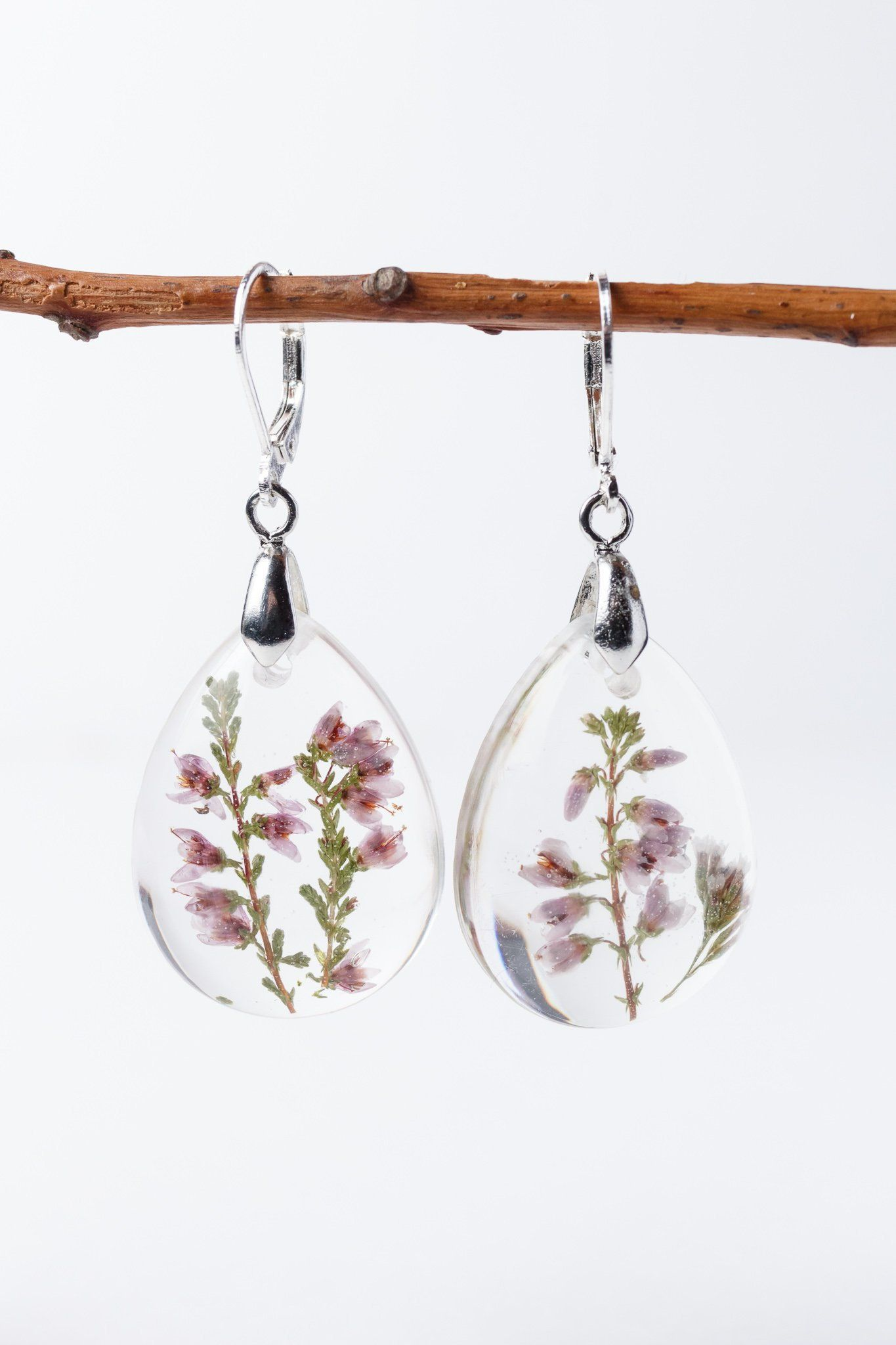 Heather Flower Pressed Jewelry