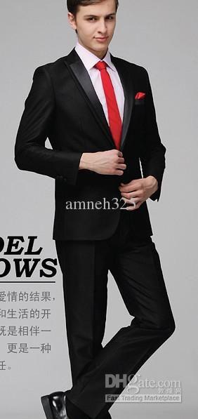 Handsome Gentleman Men's Wedding Dress Bridegroom Prom Clothing Party Men Suit Business Attire