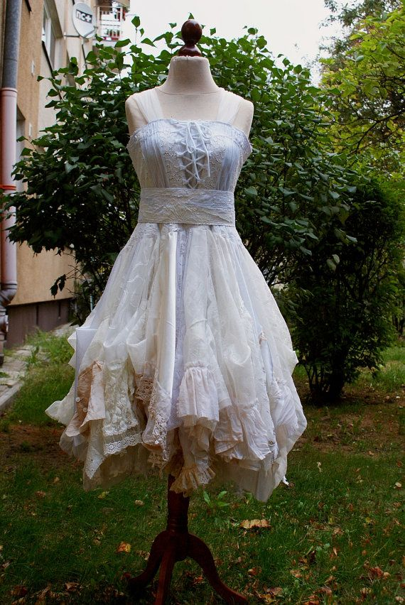 Alternative Upcycled Wedding Dress With Pieces Of By