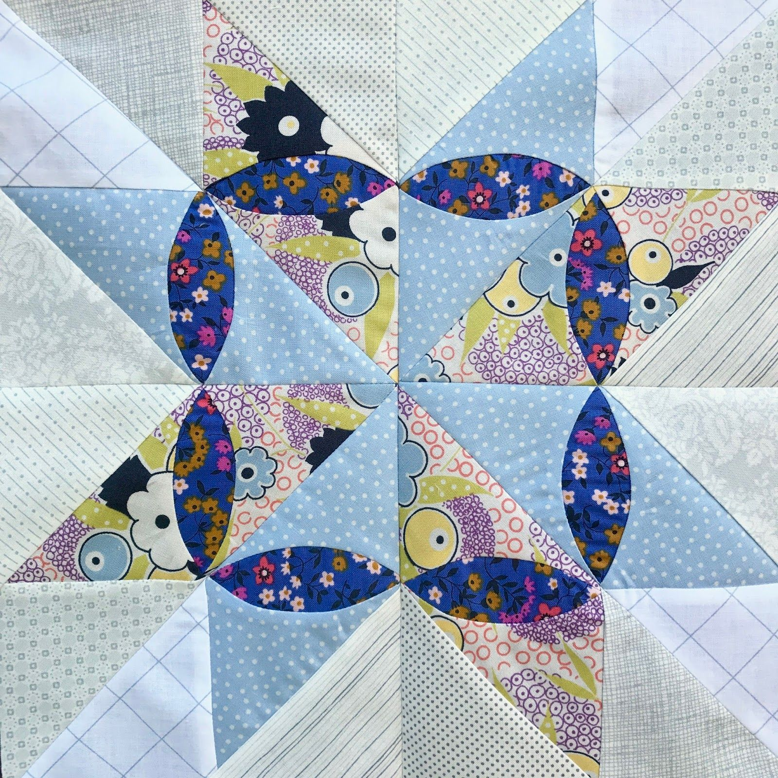 Block 4 of the Delilah Quilt template of the month program certainly