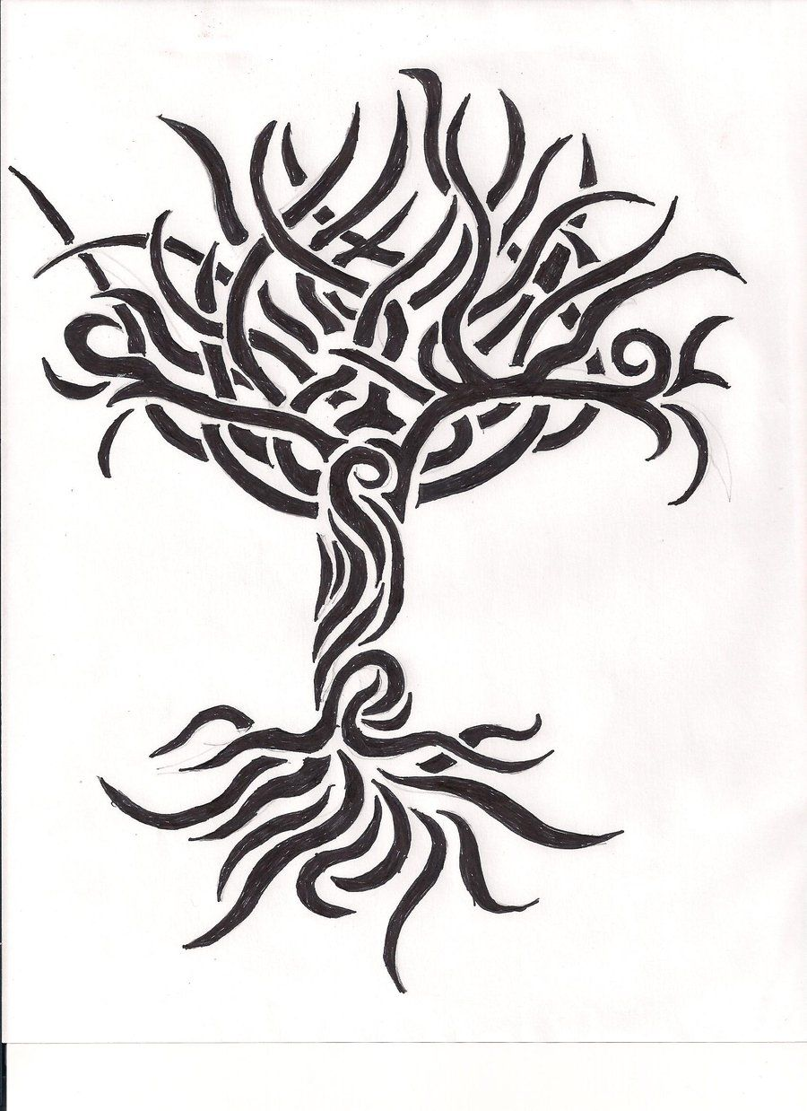 Tribal Tree Of Life: Yggdrasil Tribal By Prophetsaid On DeviantART