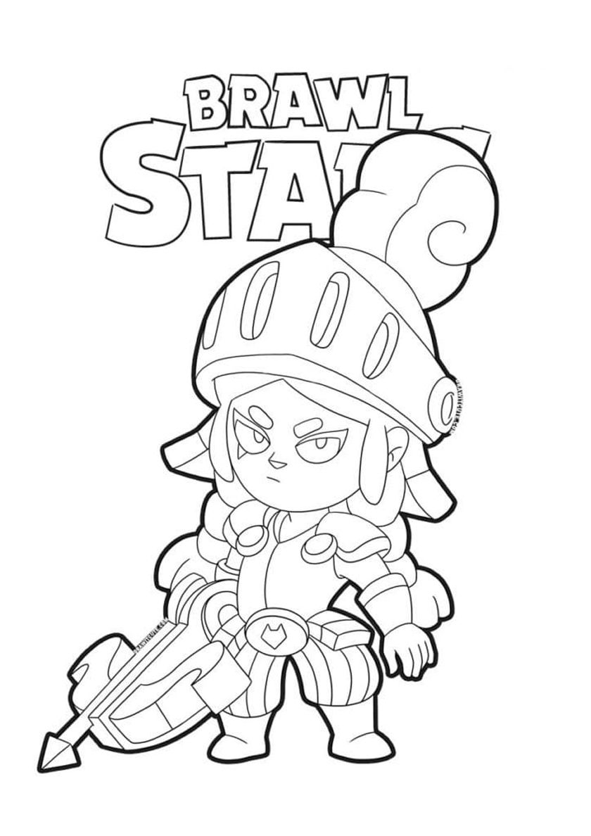 Dragon Knight Jessie High Quality Free Coloring Page From The Category Brawl Stars More Printable Pictures Star Coloring Pages Coloring Pages Dragon Knight