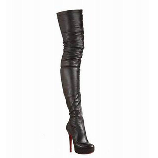 09cf1b8cf015 Christian Louboutin Thigh High Monica Black Boots
