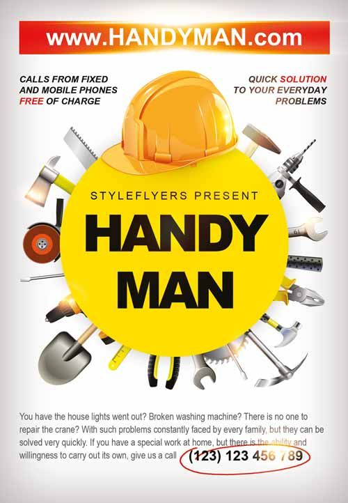 Handyman Business Flyer Template Freepsdflyer Com Handyman