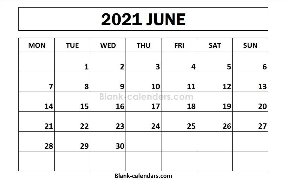 Printable June 2021 Calendar Monday Start 2021 Calendar Calendar 2020 Calendar Template