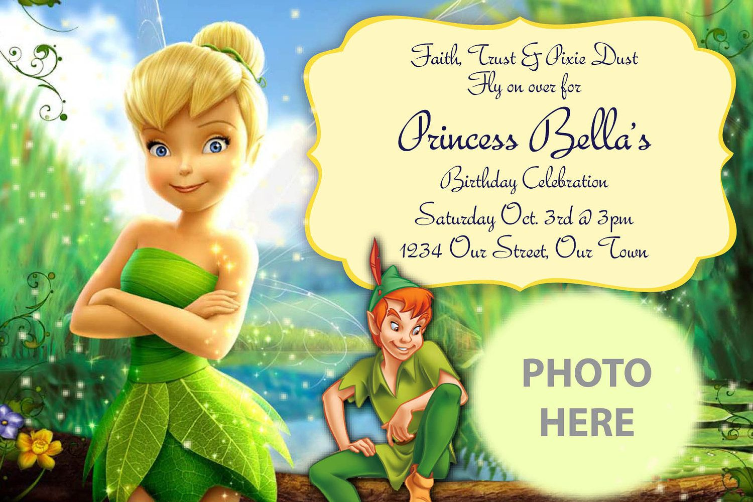 Free Printable Tinkerbell Birthday Party Invitations InviteTown