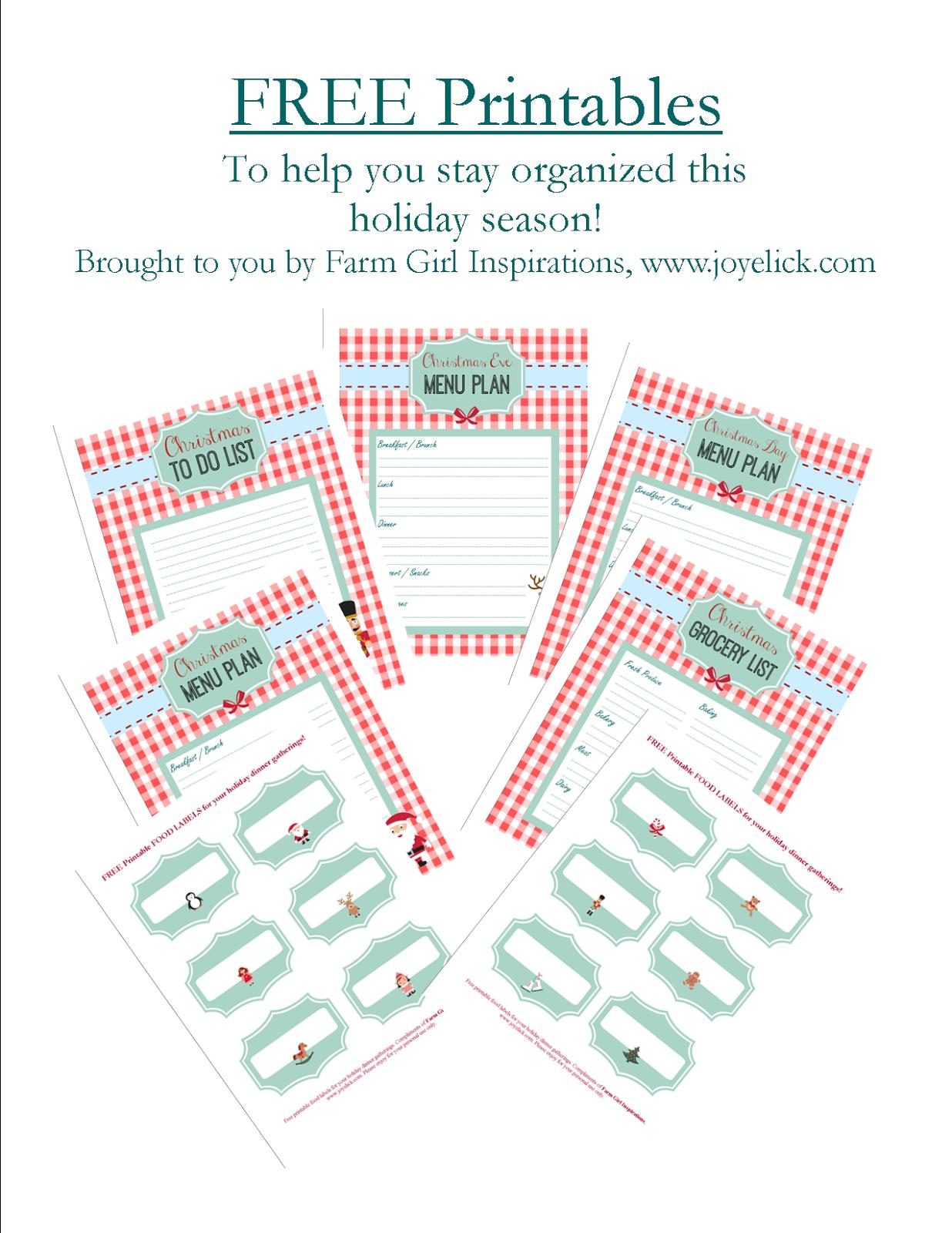 Free Printable Christmas Planner Set Stay Organized This