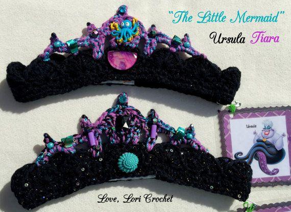 Disney Ursula, Ursula Tiara, Ursula costume, princess tiara, crochet ...