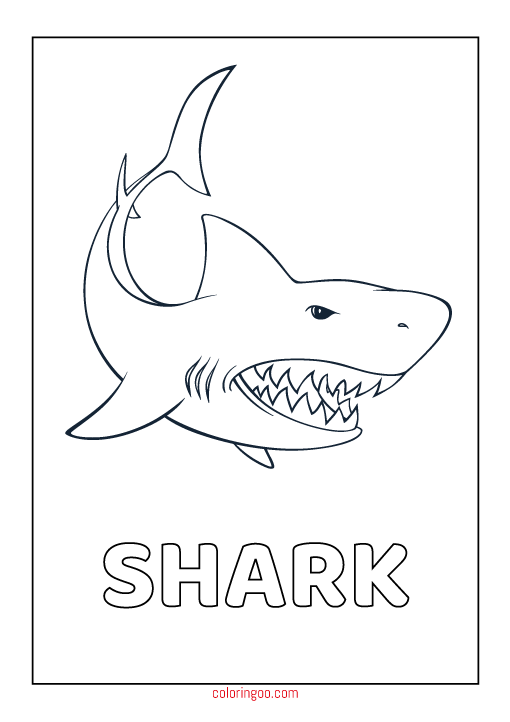 Gallery shark coloring pages for kids is free HD wallpaper.