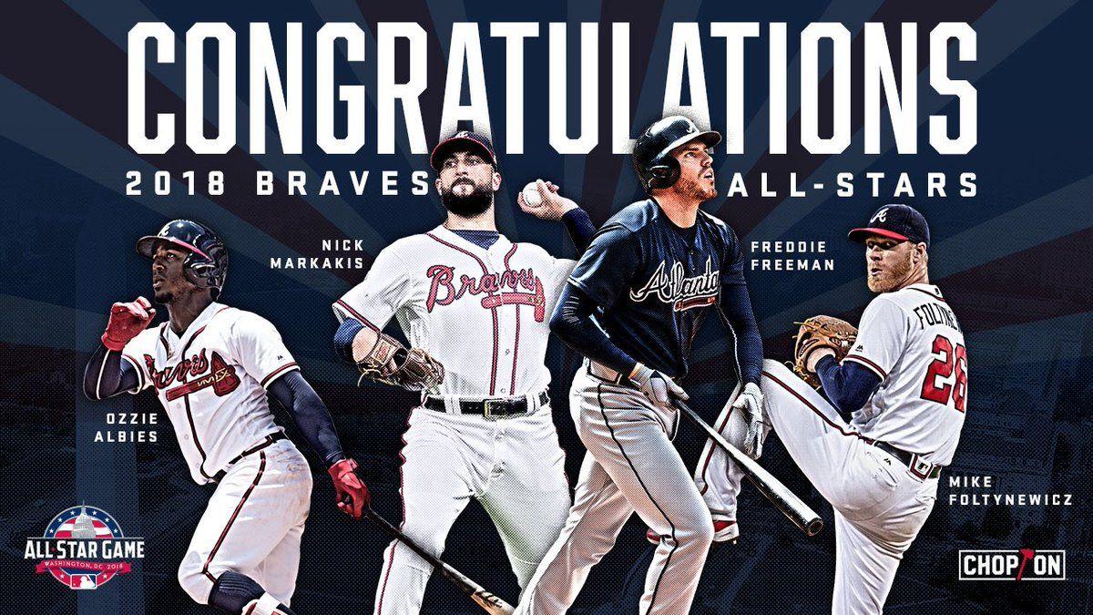 Were Celebrating Our 4 All Star At Suntrustpark This Tuesday Atlanta Braves Atlanta Braves Baseball Braves