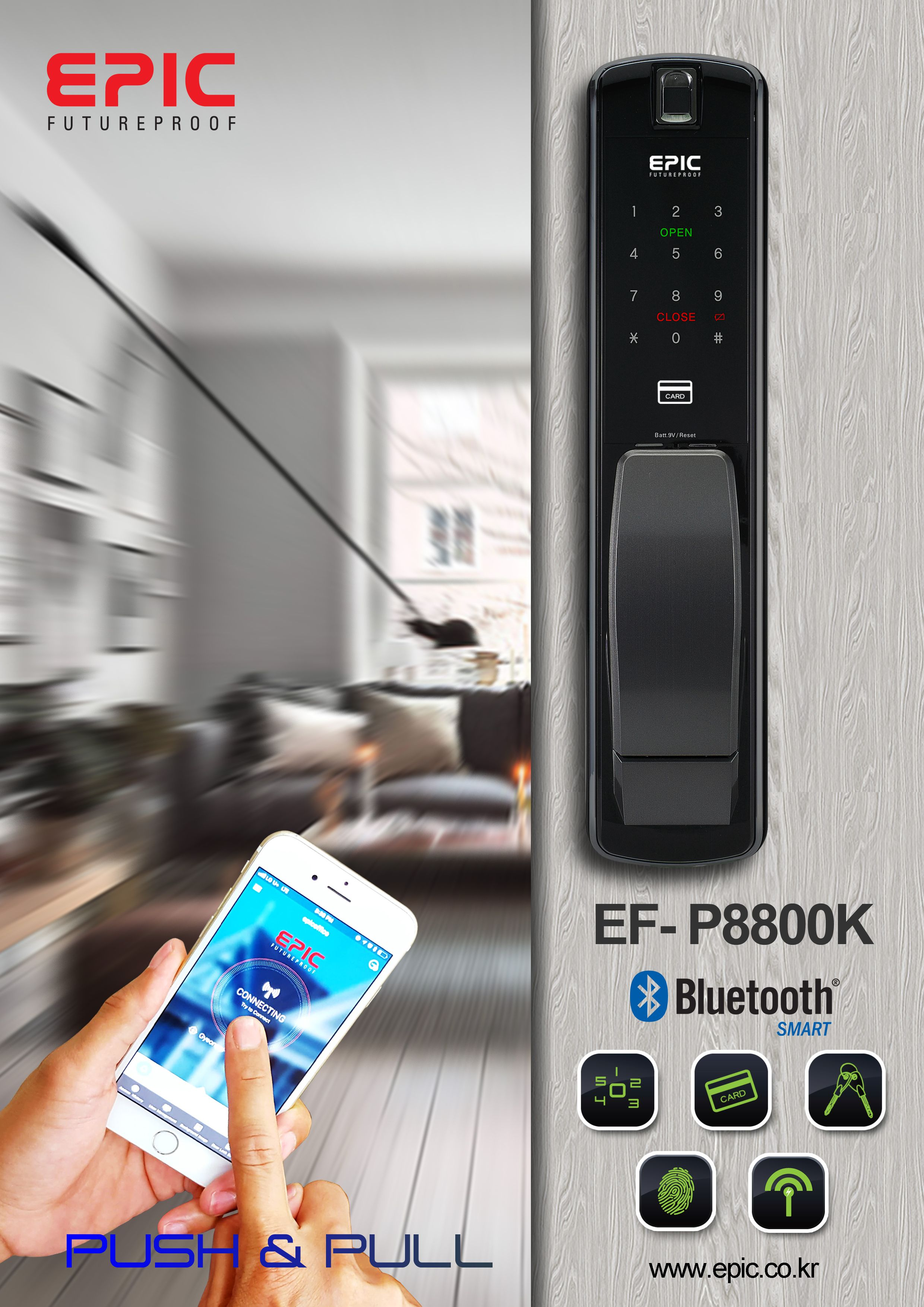 Home Improvement Mechanical Digital Push Button Door Lock Smart Home Keyless Keypad Combination Code Lock Waterproof Password Intelligent Lock Sturdy Construction Hardware