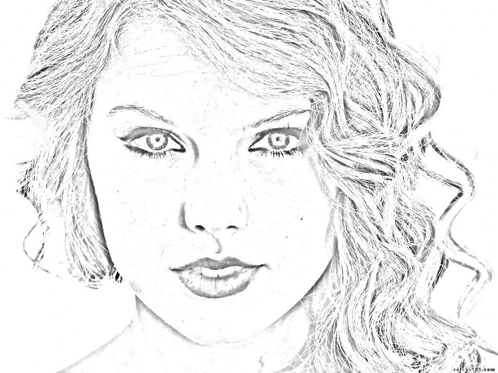 Taylor Swift Coloring Pages Activity Sheets Colouring