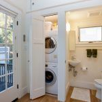 bathroom laundry combo room traditional with sliding doors a compliant toilet bowls #bathroomlaundry