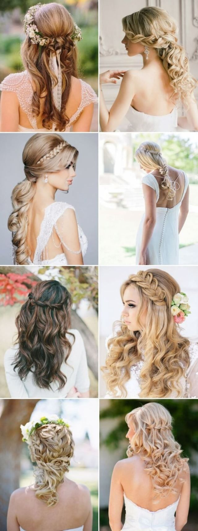 31 Beautiful Long Half Up Wedding Hairstyles | Wedding and Weddings