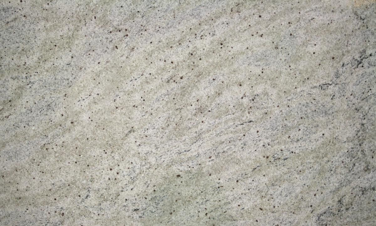 Cashmire White Granite With Grey Glass Back Splash
