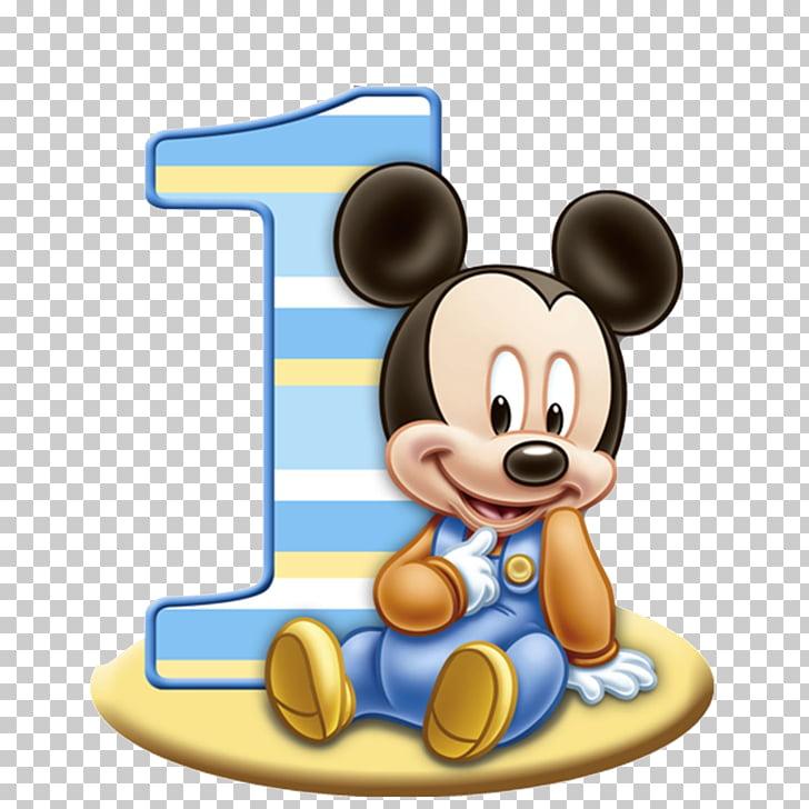 Ilustracja Mickey Mouse I Numer 1 Urodziny Mickey Mouse Minnie Mouse Mickey Mouse Png Clipart Baby Mickey Mouse Mickey Mouse Birthday Baby Mickey