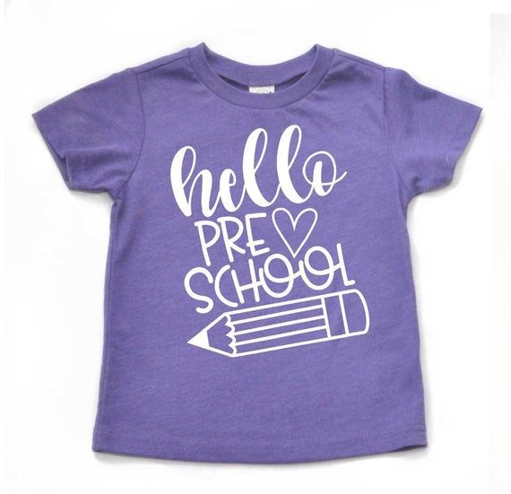 Hello preschool shirt, first day of preschool shirt, first day of school shirt, first day of school, girls preschool shirt, preschool outfit