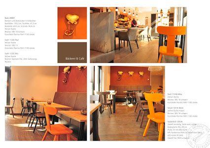 """Braun, Gelb, Orange, das hatten wir doch schon mal in den #70ern """"smile""""-Emoticon Hier in der #Bäckerei und #Café Braune in #Unna wirkt die Farbgebung der #Einrichtung warm und weich und alles andere als verstaubt. Eine Einladung zum Wohlfühlen! +Bäckerei Braune. Schnieder Stuhlfabrik, Lüdinghausen"""