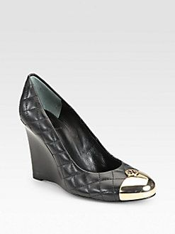 60dd2be7d925 Tory Burch - Kaitlin Quilted Leather Wedge Pumps