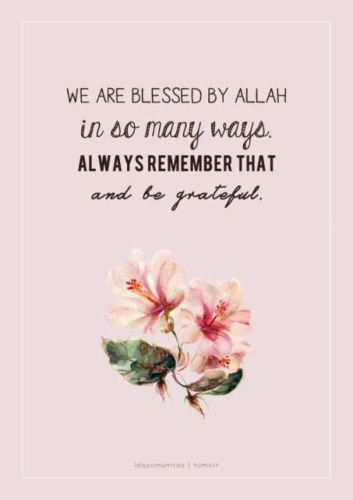 aku bersyukur di atas segala nikmat yang dikurniakanmu ya allah