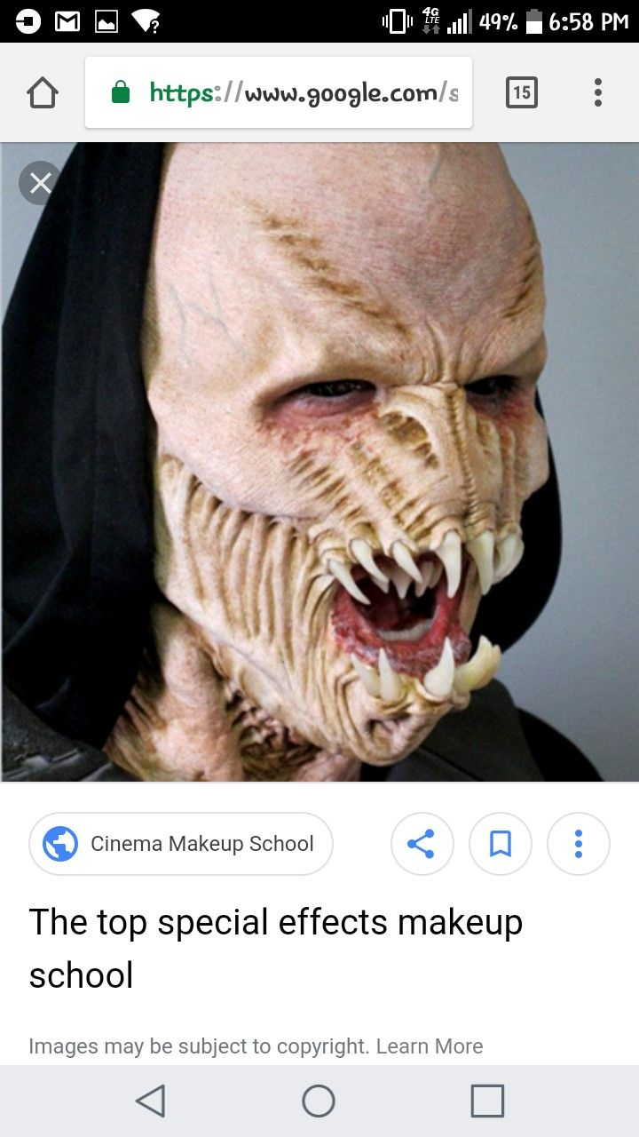 Pin by Katie Ballard on Monsters Cinema makeup school