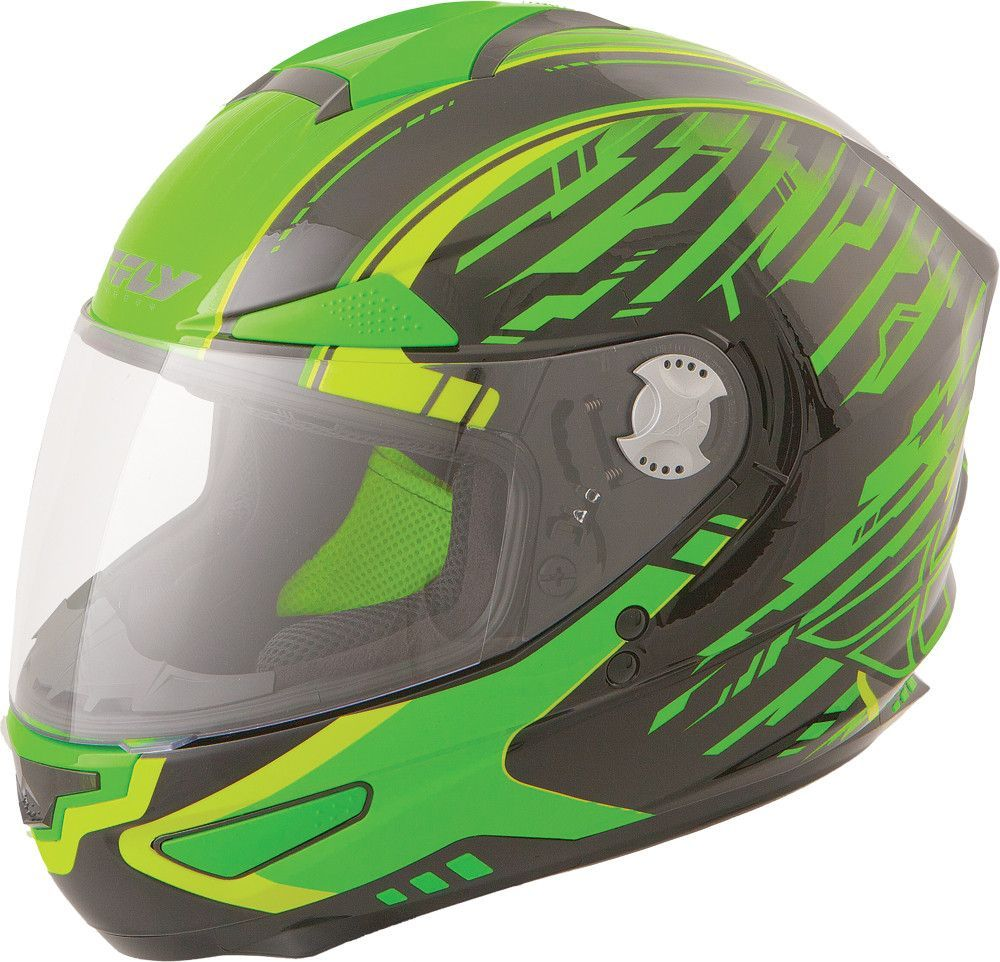 FLY STREET LUXX SHOCK HELMET BLACK/GREEN 3X
