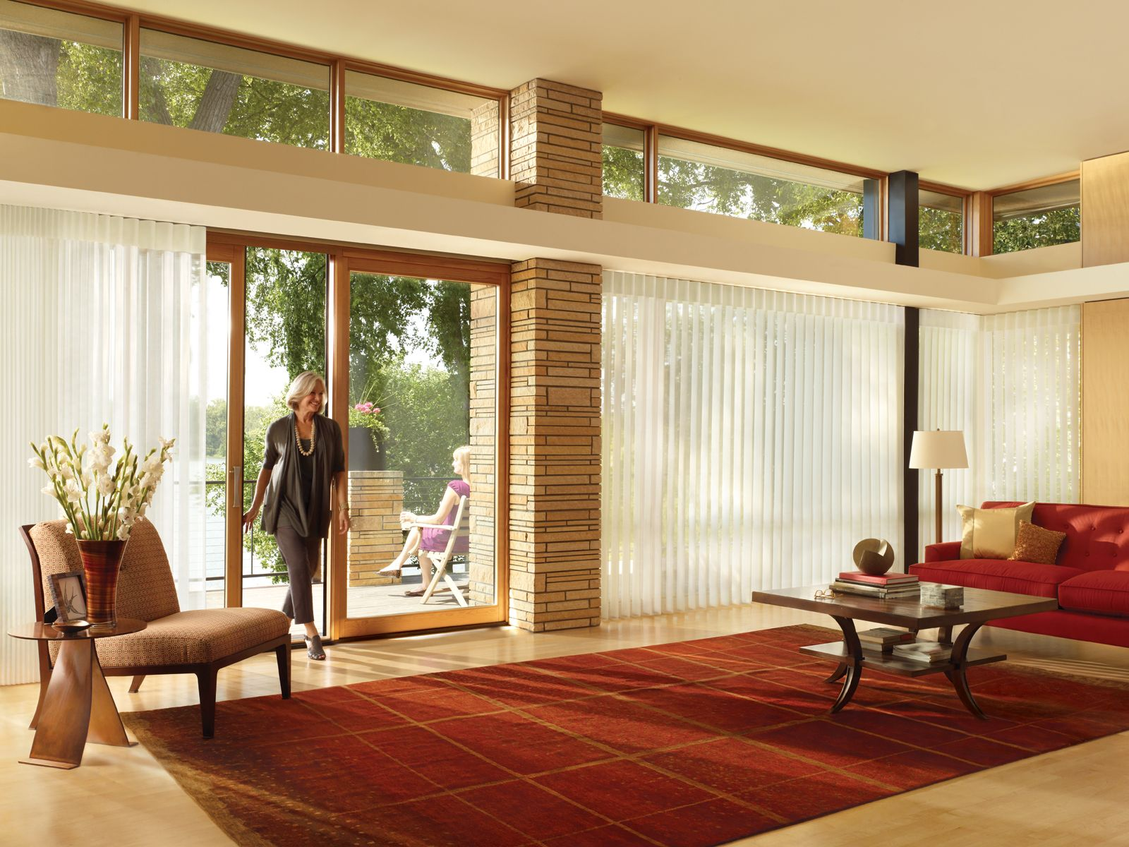 Contemporary Window Treatments For Sliding Glass Doors