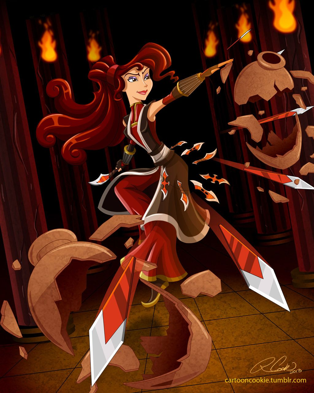 Megara, Master of Throwing Daggers by ~racookie3