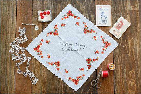 best!! will you be my bridesmaid? hankie