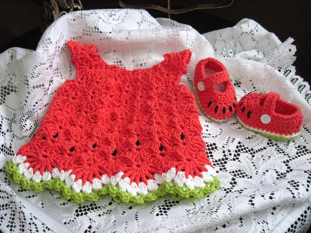 Crocheting watermelon baby dress im hoping for a baby girl bankloansurffo Choice Image
