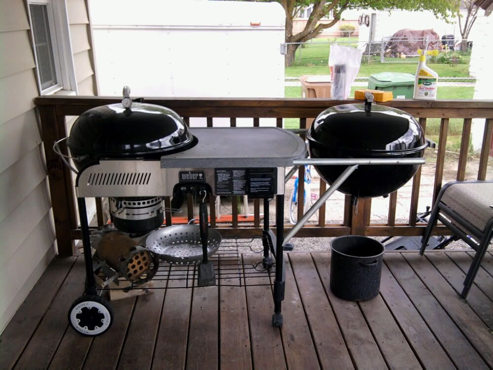 Anyone Know Of A Weber Kettle Table Mod Page 2 Backyard Grill Ideas Weber Kettle Custom Bbq Pits