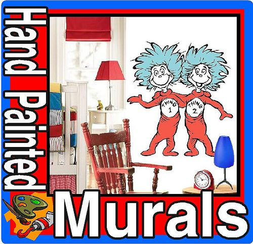 Dr Seuss Dr. Suess Theme Wallpaper Wall paper Art Sticker