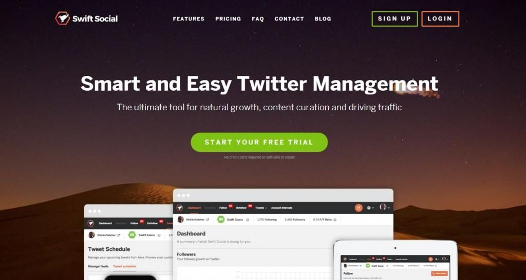Swift Social il tool di Twitter management