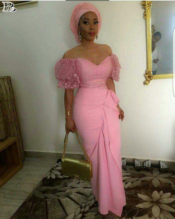 Modern aso ebi lace style 2018 #nigeriandressstyles