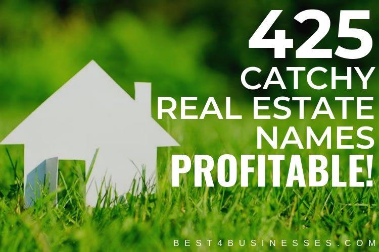 425 creative real estate company business name ideas