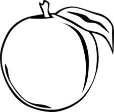 Peach Clip Art Google Search Fruit Coloring Pages Coloring