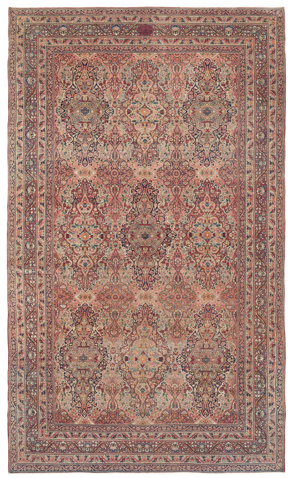 Antique Persian Kermanshah Room Size Oriental Carpet Antique