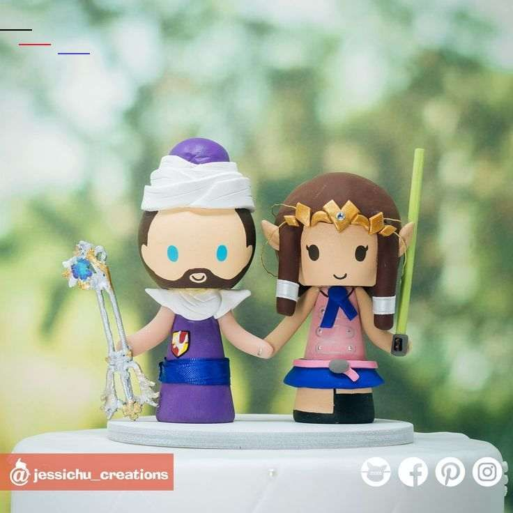 Geeky Anime Fandom with Pets Inspired Dragon Ball Z x 7 Deadly Sins x Zelda Wedding Cake Topper Geeky Anime Fandom with Pets | Dragon Ball Z x 7 Deadly Sins x Zelda | Custom Handmade Wedding Cake Topper Figurines | Jessichu Creations  #piccolo #dragonball #DragonBallZ #Anime #Otaku #dragonballs #7deadlysins #elizabeth #legendofzelda #zelda #kingdomhearts #keyblade #gamelovers #gamers #player1 #cosplay #nintendo   #WeddingInspiration #WeddingCakeTopper #CakeTopper  #CustomCreations #WeddingCake #